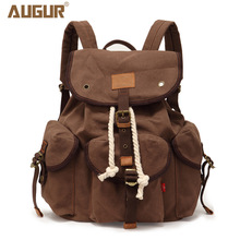 Canvas Fashion Backpack Retro Backpack Leisure Sports Outdoor Travel Large Capacity Men and Women Backpack leisure men s backpack with double buckle and black color design