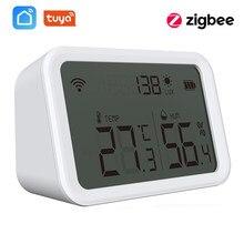 Tuya Zigbee 3.0 Temperature Humidity Sensor Lux Light Detector Hygrometer Thermometer LCD Screen Work Tuya Zigbee Hub Smart Home