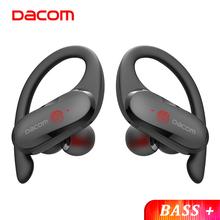 DACOM sportowiec TWS słuchawki Bluetooth bas prawda bezprzewodowe słuchawki Stereo słuchawki sportowe zaczep na ucho dla Android iOS wodoodporna tanie tanio Zaczepiane na uchu Dynamiczny CN (pochodzenie) wireless 98dBdB do telefonu komórkowego Słuchawki HiFi Zwykłe słuchawki