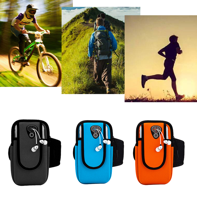 Sports Running Mobile Phone Armband Bag Case Cover Running Armband Universal Waterproof Sport Holder Outdoor Arm Pou