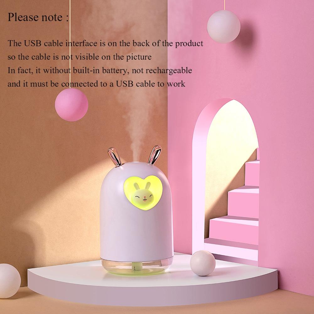 Ультразвуковой увлажнитель воздуха с милым кроликом 2