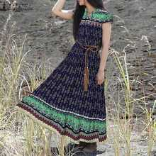 На каждый день или на выход; Длинный костюм, накидка, Восточный халат, халат 2021, летние платья с цветочным рисунком для женщин в богемном стил...