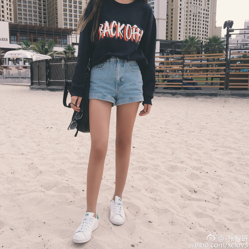 2019 Summer New Style Korean-style Retro High-waisted Denim Shorts Women's Crimping Fat Mm Loose-Fit Slimming Large Size Hot Pan