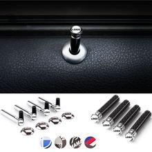 4PCS Parafuso Door Lock Vara Pin Cap Caso Da Liga De Fibra De Carbono para BMW E92 X5 E70 E90 F30 E93 F31 X1 X3 F15 X6 Z4 Z3 E85 E89 F22 F10