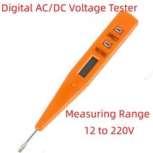 Digital Voltmeter 12V-220V Socket Wall AC/DC Power Outlet Detector Sensor Tester Pen Electric Indicator Voltage Meter Tester Pen