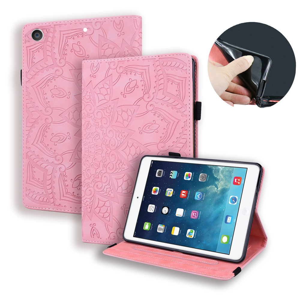 Case Pink Case For iPad 10 2 inch 2019 Stand Auto Sleep Smart Folio PU Leather Cover For