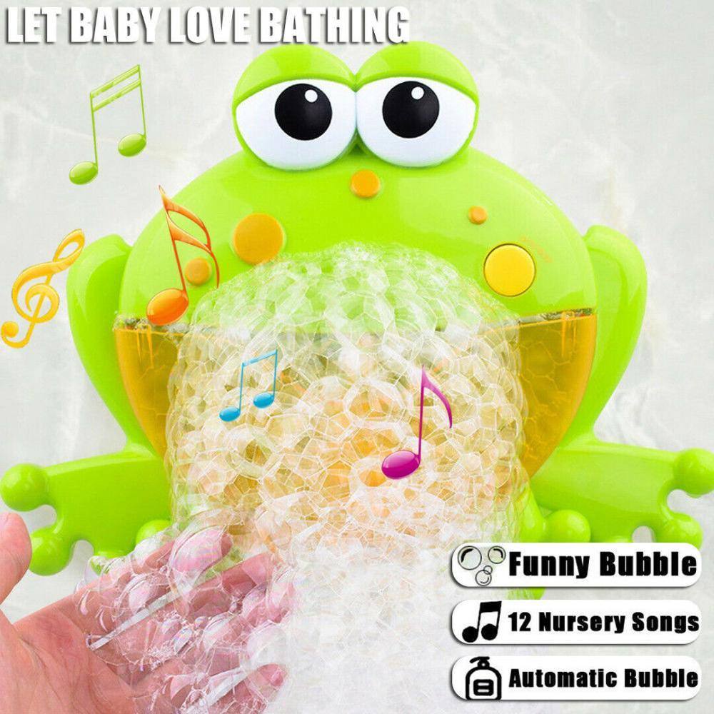 Bubble Machine Crabs Frog Music Kids Bath Toy Bathtub Soap Automatic Machine Blower Maker Bath Music Toy