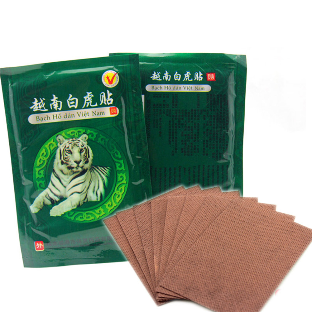 16pcs Tiger Balm Plasters Vietnam White Tiger Pain Relieve Plaster Patch Meridians Rheumatoid Arthritis Cervical Spondylosis