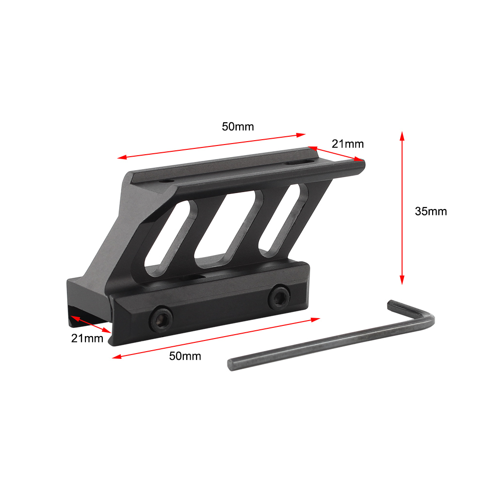 Scope Riser Mount For Airsoft T1 / T-1 / T2 / T-2 Red Dot Fit Mil-spec Picatinny Rail Scope Optics Mounts Hunting Accessories image