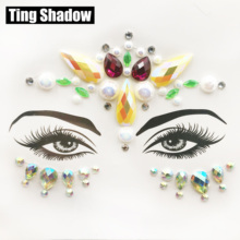 3D Crystal Glitter Jewels Tattoo Sticker Women Fashion Body Gems Festival Gypsy Face gems face crystal Party Makeup