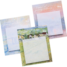 Painting landscape memo pad planner sticky notes paper sticker post it note kawaii stationery  office school supplies memo sheet 1pcs korean cat rabbit sheep stationery memo pad week plan memo sticky note set agenda sticker office school supplies