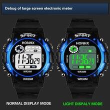 Montre numérique Led pour enfants, chronomètre multifonction, étanche, pour garçons, Sport de plein air