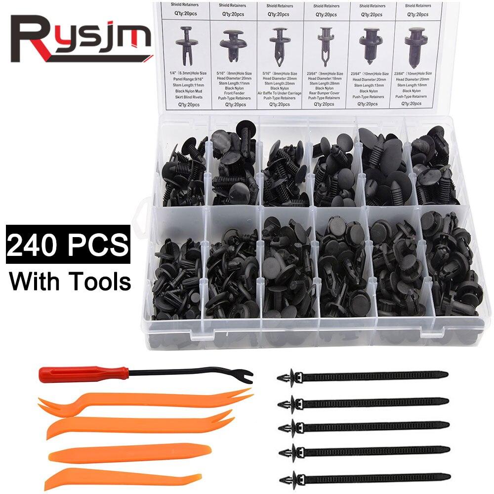 350PCS Auto Car Push Retainer Pin Rivet Trim Clip Panel Molding Assortment Kit U