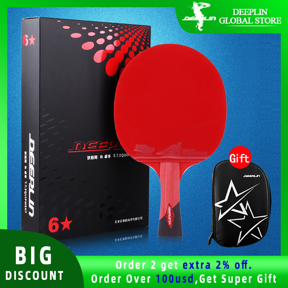 Ping Pong Paddle with Killer Spin Case for Free - Professional Table Tennis Racket for Beginner and Advanced Players 6 7 8 Star 1