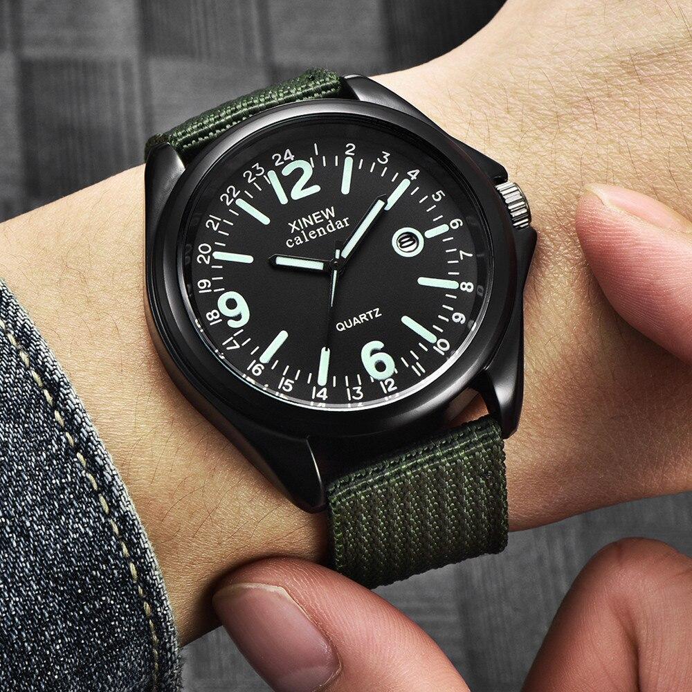 Часы наручные мужские кварцевые в стиле милитари простые Роскошные спортивные