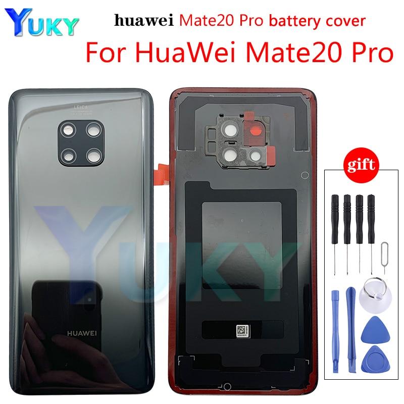 Оригинальная задняя крышка корпуса для Huawei Mate 20 pro, стеклянная крышка батарейного отсека для Mate20, задняя крышка корпуса, запасные части