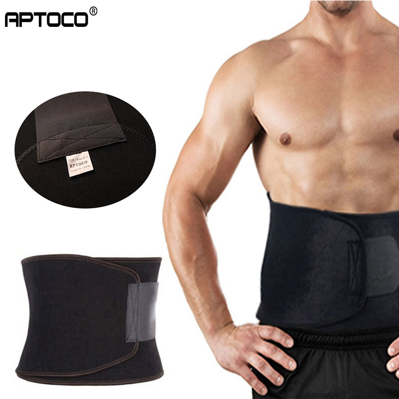APTOCO Adjustable Waist Trimmer Exercise Sweat Belt Fat Burner Shaper Slimming Lose Weight Body Burn Cellulite For Men Women