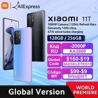 【World Premiere】Global Version Xiaomi 11T Smartphone 128GB/256GB ROM Dimensity 1200-Ultra Octa Core 67W Charging 108MP Camera 1