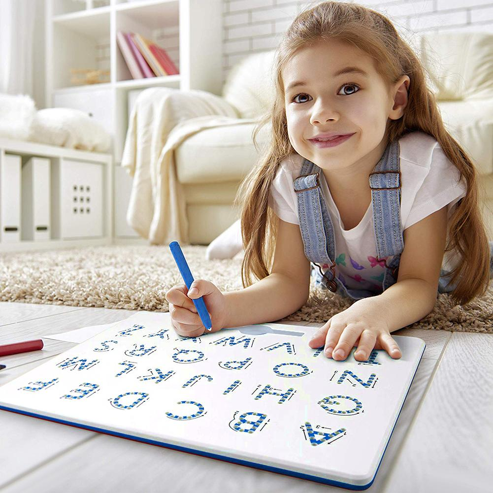 Kids Magnetic Drawing Board ABC Letters Learning Education Erasable Doodle Plate
