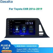 Автомобильный радиоприемник Android 10,0 GPS для Toyota C-HR Европейская версия мультимедиа 2014 до 20120 CHR 1Din DSP HD IPS 1280*720 Carplay 4 Гб 64 ГБ