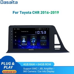 Android 10.0 Car Radio GPS For Toyota C-HR Europe Version Multimedia 2014 to 20120 CHR 1Din DSP HD IPS 1280*720 Carplay 4Gb 64Gb
