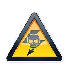 Zwróć uwagę na elektryczne ostrzeżenie bezpieczeństwa naklejki samochodowe akcesoria, 14cm * 12cm