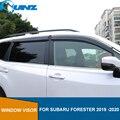 Дымок боковое окно дефлектор для Subaru Forester 2019 2020 окно козырек вентиляционные шторы дождь дефлектор защита SUNZ