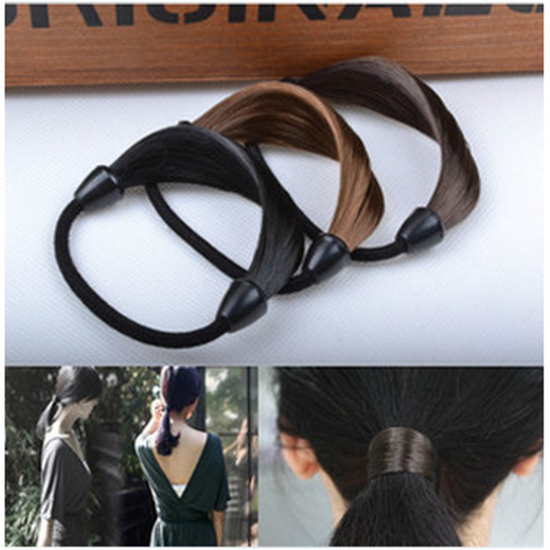 1PC  Women Girl's Straight Wig Elastic Hair Band Fashion Cute Hair Ropes Scrunchie Ponytail Holder Hairband Hair Accessories
