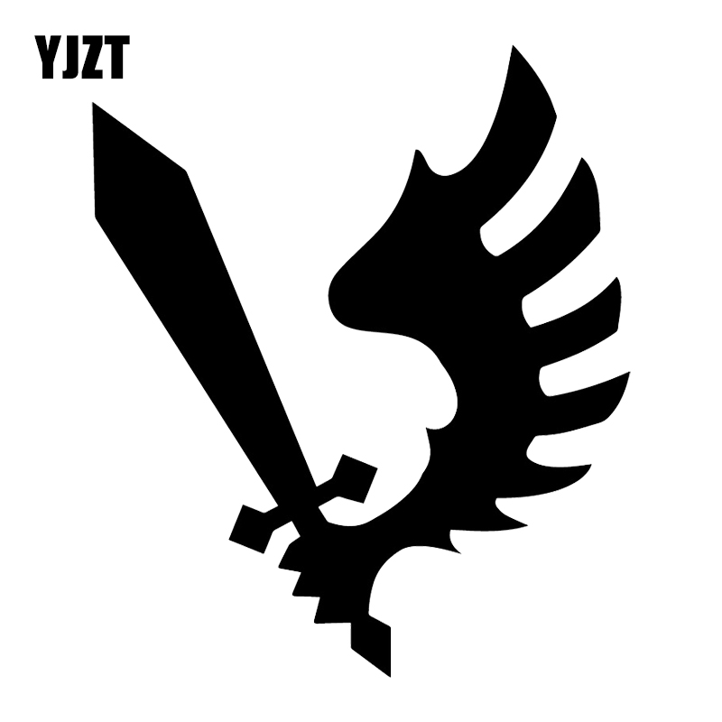 YJZT 14.1X16.7CM Raven Wing Warhammer Personality Vinyl Decal Car Sticker Accessories C25-1103