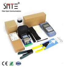 FTTH Kit de herramientas de fibra óptica con alicates de pelado de fibra, FC 6S, medidor de potencia, localizador Visual de fallos, 12 unidades