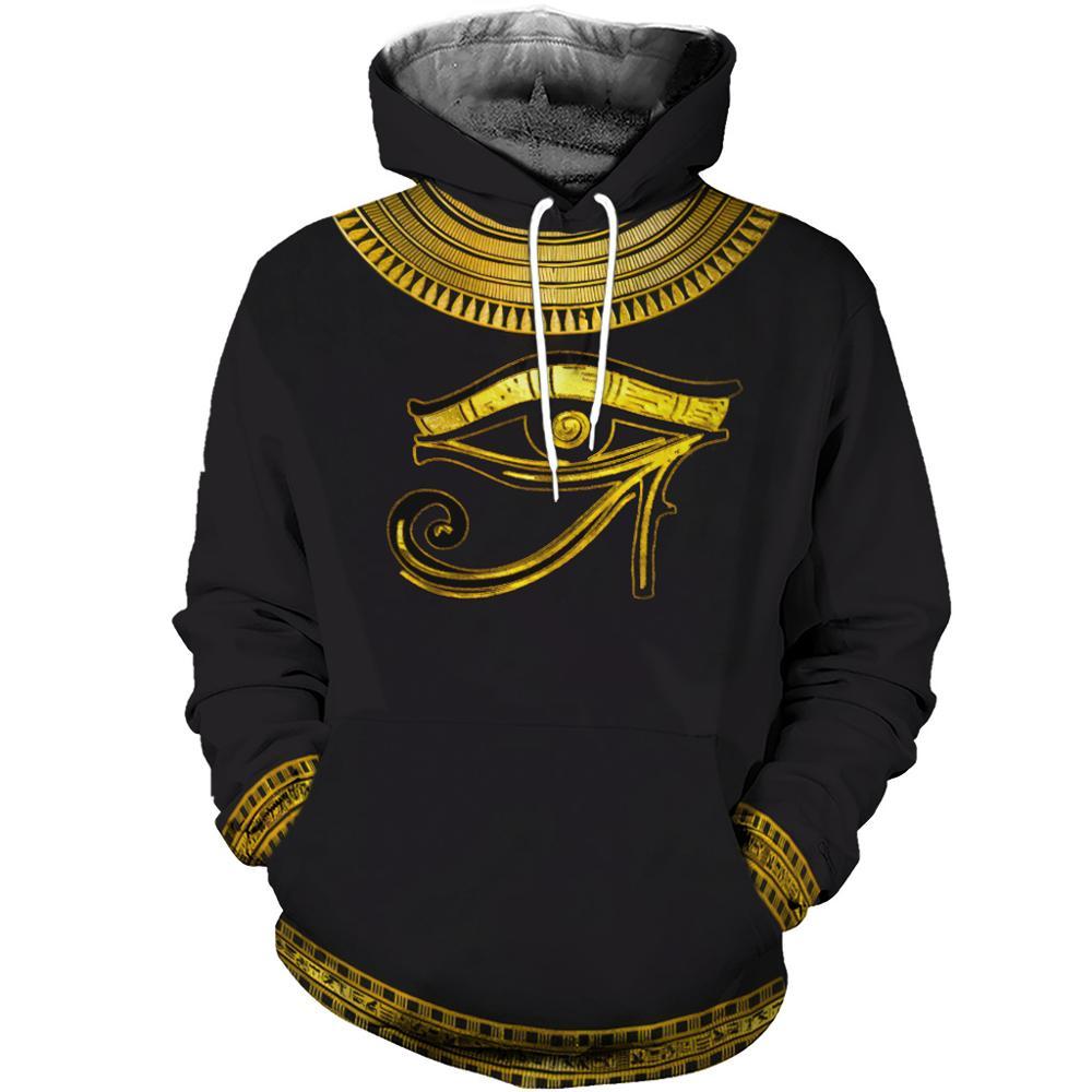 Brand Clothing 2019 Fashion Hoodies 3D All Over Printed Eye Of Horus God Clothes Sweatshirt Harajuku Streetwear Sudadera Hombre