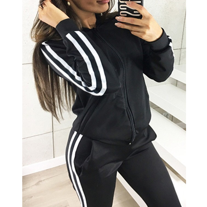 ZEROS 2 Piece Set Women Hoodies Pant Clothing Set Warm Newest Clothes Ladies Solid Tracksuit Women Set Top Pants Suit Female