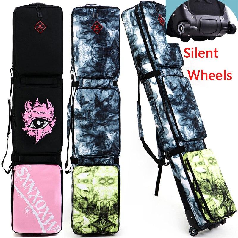 2020 новый дизайн сумка для сноуборда Лыжная сумка с бесшумными колесами   Роликовые лыжи сумка рюкзак a7336