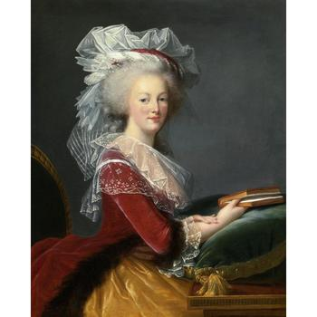 Portrait Art paintings Marie Antoinette with a book by Elisabeth Vigee Lebrun High quality Hand painted