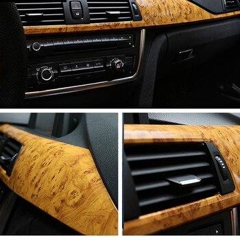 Pegatina interior para coche PVC textura de grano de madera decoración película DIY vinilo pegatina coche estilo