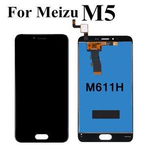 Image 2 - שחור/לבן עבור Meizu M5 Lcd תצוגת מסך מגע Digitizer מלא לוח מגע הרכבה עבור Meizu M5 M611H תצוגה