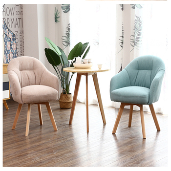 sofa  Living room furniture Nordic  chair  leisure single sofa comfortable relaxing Backrest armrest soft chairs Solid wood legs nordic lazy sofa chair single armchair luxury small apartment bedroom living room chairs balcony leisure chair