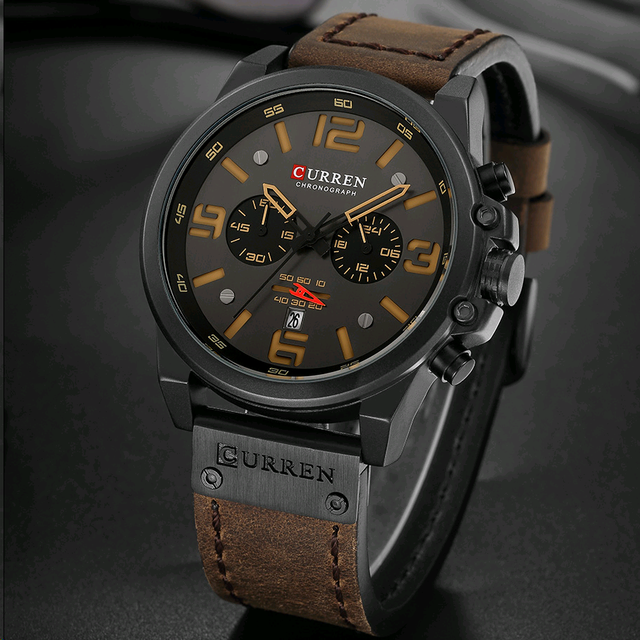 Curren 8314 marca de luxo quartzo relógio masculino militar à prova dmilitary água pulseira couro esporte dos homens relógios moda casual masculino clock clock clock 2