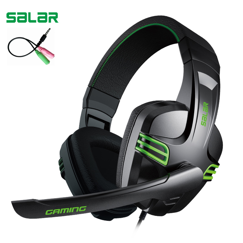 Salar KX101 3.5mm Wired Earphone Gaming Headset PC Gamer Stereo Headphone with Microphone for Computer ru aliexpress com мотоутка