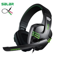 Salar KX101 3.5mm Wired Earphone Gaming Headset PC Gamer Stereo Headphone with Microphone for Computer(China)