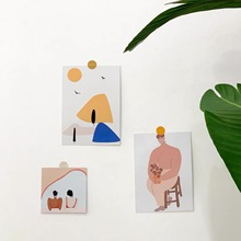 Decoration-Card Korean Background Wall-Stickers Abstraction Photo-Photo-Props 3-Sheets