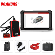 UCANDAS VDM Wifi סורק OBD2 מלא מערכת כלי אבחון אוטומטי מכונית TPS שמן שירות איפוס עם Windows Tablet סריקה כלי בערבית