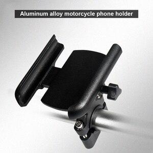 Image 3 - אלומיניום אופנוע הרי אופניים מחזיק טלפון סטנד מתכוונן Moto כידון Rearview מראה 4 6.5 אינץ נייד הר