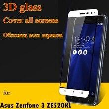 Ochraniacz ekranu Pelicula de vidro szkło hartowane 3D dla Asus Zenfone 3 lite neo ZE520KL Z017D 5.2 Cal ze 520 kl ze 520kl