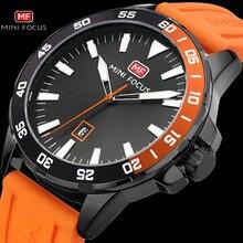 MINI odak ordu askeri spor İzle erkekler kuvars saat turuncu kauçuk kayış okyanus kadran tarihi ekran moda yaratıcı saatler