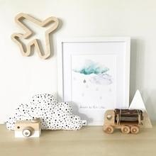 Скандинавский стиль, деревянный декор для детской спальни, декор для детской кроватки, реквизит для фотосъемки, домашний декор, наклейка на стену, украшения