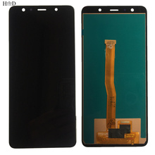 Incell LCD For Samsung Galaxy A7 2018 A750 SM-A750F A750F A750FN LCD Display + Touch Screen Digitizer Panel Assembly Frame Tools