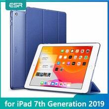 """ESR Case עבור iPad 7th Gen 10.2 """"10.2 עמיד הלם Ptotective כיסוי Trifold חכם אוטומטי שינה שרות פולד Stand Case עבור iPad 7 2019"""