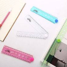 30cm Korean Flexible Folding Ruler Multifunction Plastic Drawing Rulers Office School Stationery Students Kids Gifts X6HB