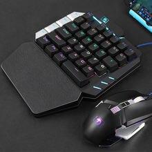 K109 клавиатура для мобильных игр с одной рукой 38 клавиш механическая